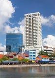 Bateau Quay à Singapour Photo stock