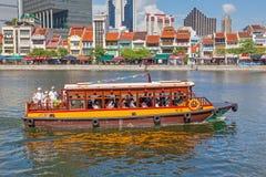 Bateau Quay à Singapour Photos stock