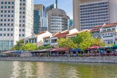 Bateau Quay à Singapour Image stock