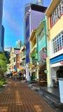 Bateau Quay, Singapour Images stock
