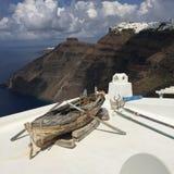 Bateau romantique Grèce d'île de Santorini Photo stock