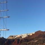 Bateau romantique Grèce d'île de Santorini Images stock