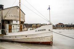 Bateau Runenberg de Porvoo Photographie stock libre de droits