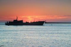 Bateau russe de flotte à Sébastopol Photos stock