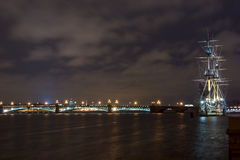 Bateau russe la nuit Photos libres de droits