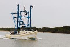 Bateau shrimping du Texas Images stock