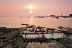 Bateau simple de Qingdao Photos libres de droits