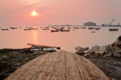 Bateau simple de Qingdao Image stock