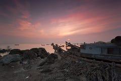 Bateau simple de Qingdao Photographie stock