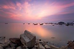 Bateau simple de Qingdao Photographie stock libre de droits
