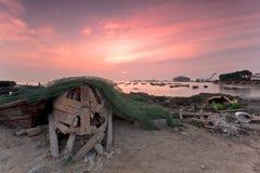 Bateau simple de Qingdao Images libres de droits