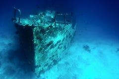 Bateau submergé Image libre de droits
