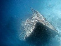 Bateau submergé Image stock
