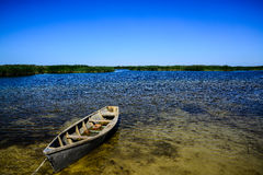 Bateau sur l'eau Images libres de droits