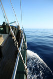 Bateau sur l'océan Photos stock
