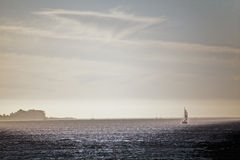 Bateau sur l'océan Image libre de droits