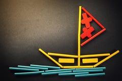 Bateau sur la mer photographie stock libre de droits