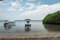 Bateau sur la plage Banyuwangi Indonésie de Bama photo stock