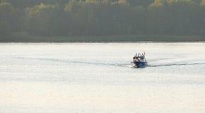 Bateau sur la rivière Havel en Allemagne Photographie stock