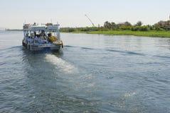 Bateau sur le fleuve de Nil Photo libre de droits