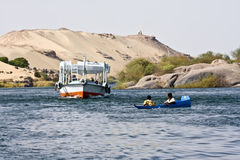 Bateau sur le Nil Images libres de droits