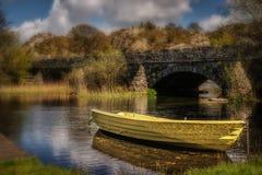 Bateau sur Llyn Padarn Images stock