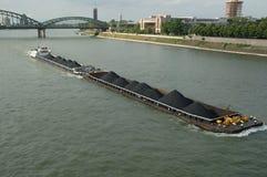 Bateau sur Rhein Image libre de droits