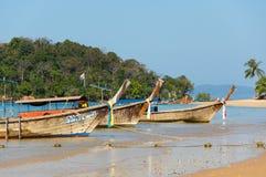 Bateau thaïlandais traditionnel de longue queue Images libres de droits