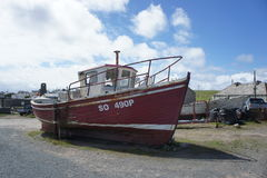 Bateau, Tory Island, le Donegal Images stock