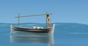 bateau traditionnel dans les Îles Baléares illustration libre de droits