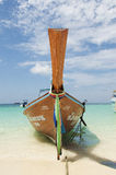 Bateau tropical d'île Images libres de droits