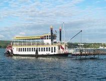 Bateau à vapeur sur le lac de canandaigua, New York Photographie stock