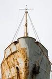 Bateau vieux et rouillé Image libre de droits