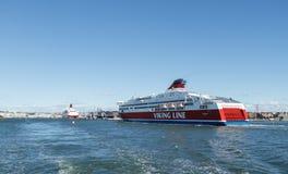 Bateau Viking Line Images libres de droits