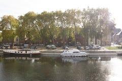 Bateaux à Amiens Photos stock