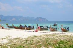 Bateaux à l'île de Poda Photo libre de droits
