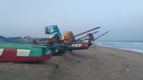 Bateaux à la plage Photo libre de droits