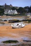 Bateaux à marée basse Photo libre de droits