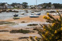 Bateaux à marée basse Image stock