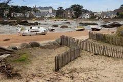 Bateaux à marée basse Photographie stock