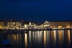 Bateaux à Trieste Image libre de droits