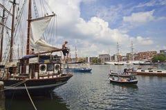 Bateaux à voile à la voile Amsterdam 2015 Image stock