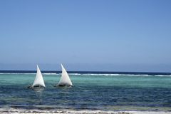 Bateaux à voile de Zanzibar Image stock