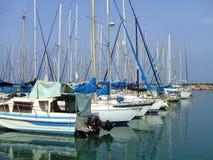 Bateaux à voile ou yachts Photo stock