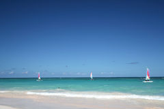 bateaux à voiles d'océan tropicaux Photographie stock libre de droits