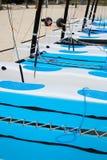 Bateaux à voiles de catamaran Photographie stock