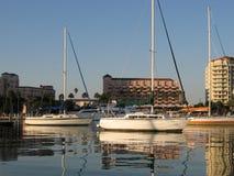 bateaux à voiles de la Floride de côte Photographie stock libre de droits
