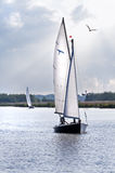 Bateaux à voiles sur le lac Images stock