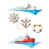bateaux Images libres de droits
