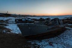 Bateaux abandonnés Photographie stock
